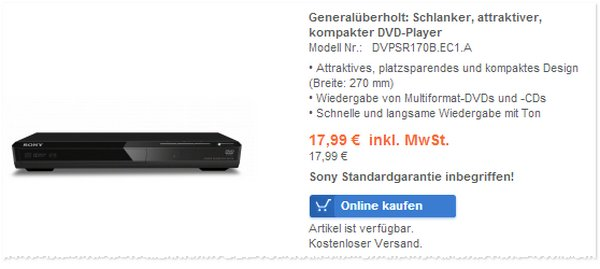 Sony SR170B