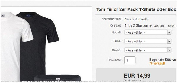 Tom Tailor T-Shirts kaufen