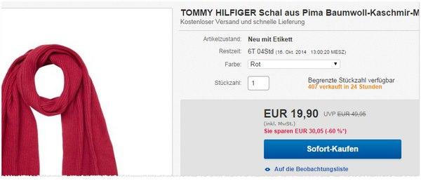 Tommy Hilfiger Schal-Angebot