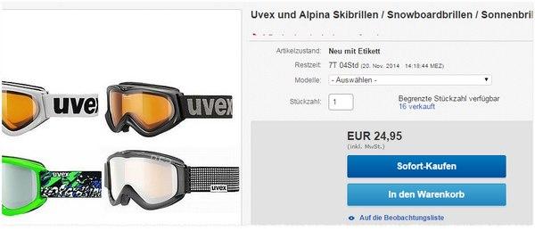 Uvex Skibrillen