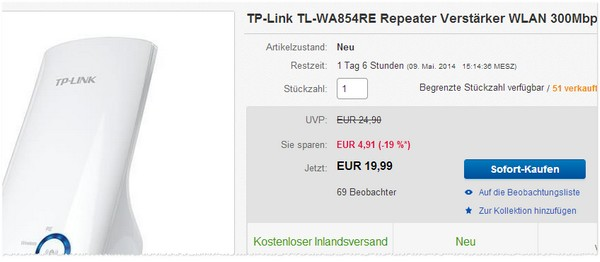 TP-Link TL-WA854RE Repeater