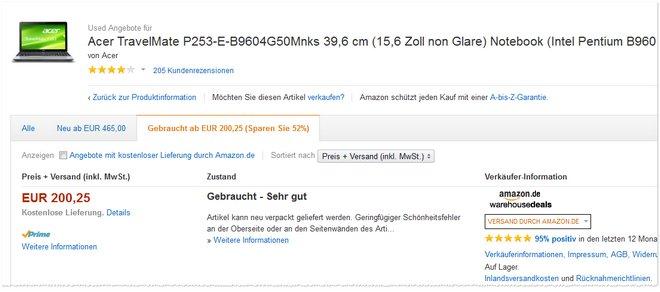 Acer Travelmate P253 Amazon Warehousedeals