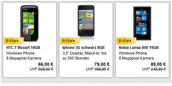 Apple iPhone 3G ohne Vertrag als B-Ware