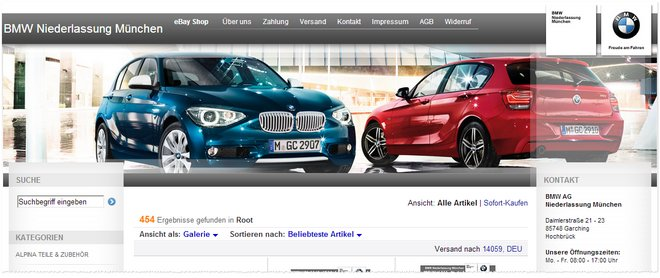 BMW Outlet bei eBay?