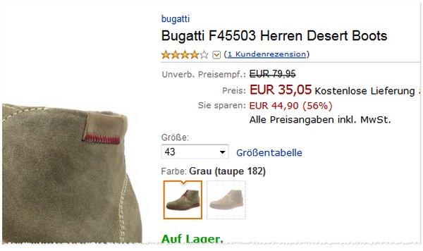 Bugatti Desert Boots F45503
