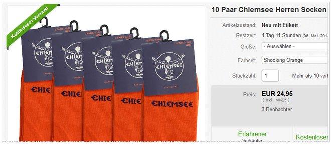 Chiemsee Herren Socken Angebot