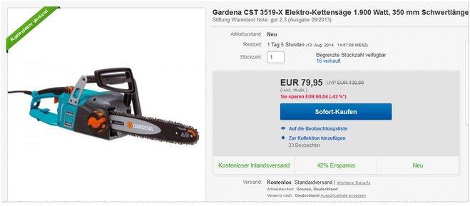 Gardena CST 3519-X Preis