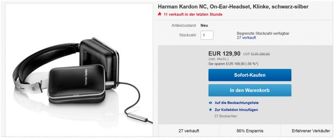 harman kardon nc f r 129 90 im ebay outlet von gravis. Black Bedroom Furniture Sets. Home Design Ideas