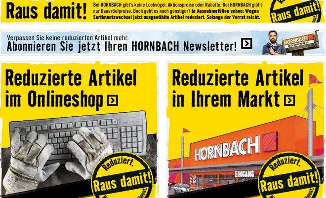 Hornbach Aktion Raus damit!