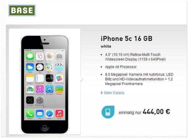 iPhone 5C ohne Vertrag