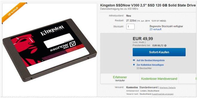 Kingston SSDNow V300 Preis