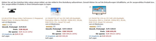 LG Aktion bei Amazon