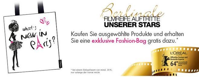 L'Oréal Fashion-Bag Berlinale 2014