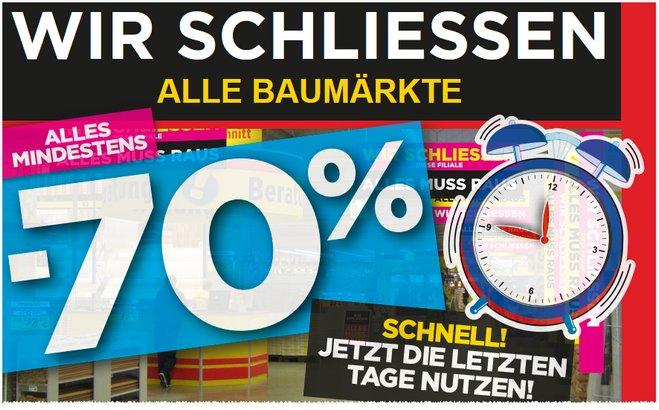 Max Bahr Ausverkauf: Abverkauf am 25.2.2014 beendet