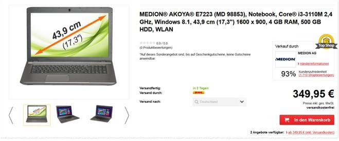 Medion Akoya E7223 MD 98853