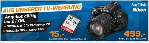 Nikon D5100 aus der Saturn-Werbung