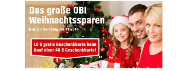 OBI-Geschenkkarte Weihnachtssparen