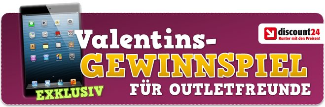 outletfreunde.de Gewinnspiel am Valentinstag