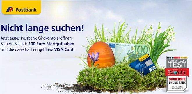 Postbank Happy Hour zu Ostern