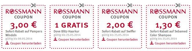 Rossmann Coupons ausdrucken