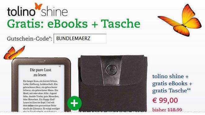 Tolino Shine mit Gratis-Tasche
