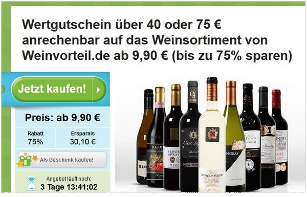 Weinvorteil Gutschein bei Groupon