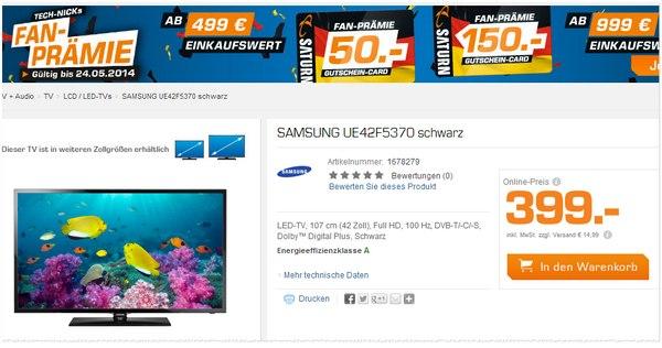 Samsung UE42F5370 als Saturn Angebot