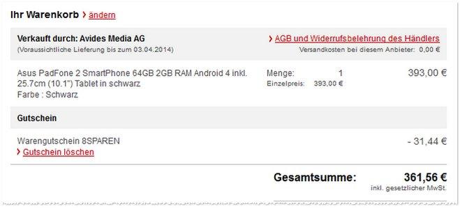 Asus Padfone 2 plus Tablet-Dock