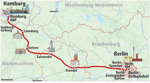 Berlin nach Hamburg