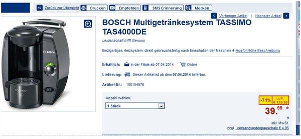 Bosch Tassimo TAS4000DE