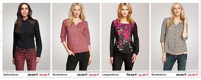 comma Sale im Online-Store