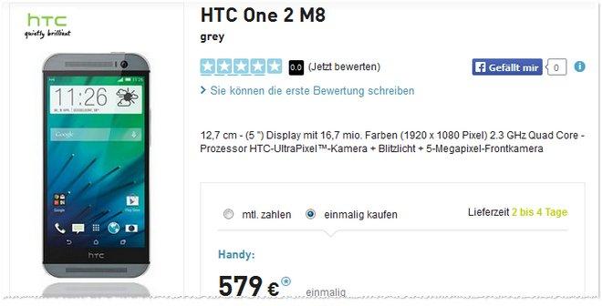 HTC One M8 Preis