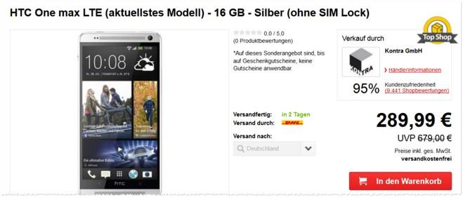 HTC One Max ohne Vertrag B-Ware