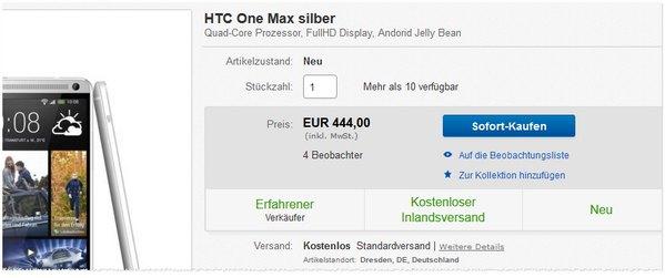 HTC One Max ohne Vertrag