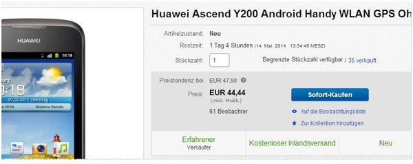 Huawei Ascend Y200 günstig kaufen