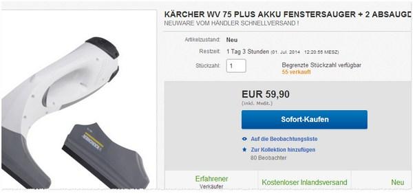 Kärcher WV 75 plus Angebot