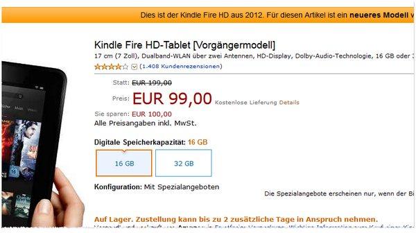 Kindle Fire Vorgängermodell