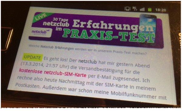 Kostenlose Internet-Flat vom netzclub