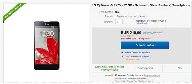 LG Optimus G Preis