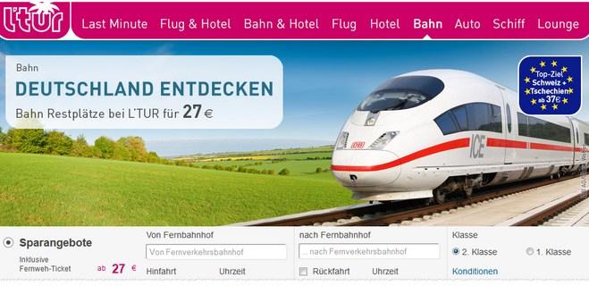 LTUR Bahn Fernweh-Tickets