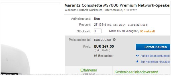 Marantz Consolette Preis