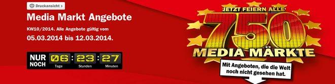 Media Markt Aktion: 750 Märkte feiern