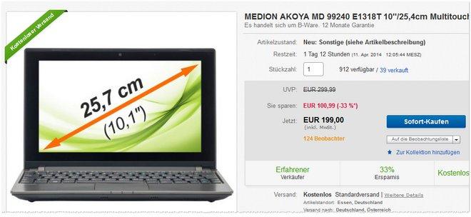 Medion Akoya E1318T B-Ware