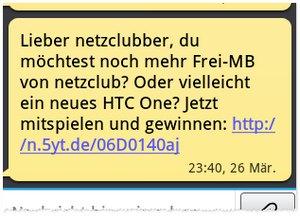 netzclub SMS Gewinnspiel