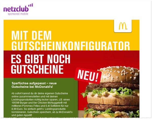 Werbe-Mail vom netzclub