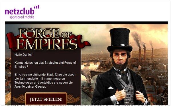 netzclub Werbe-Mail