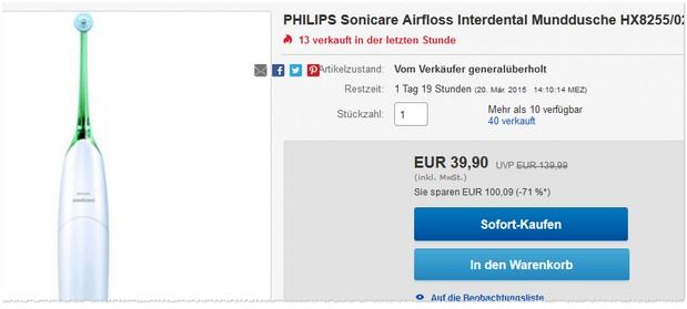Philips Sonicare Airfloss HX8255