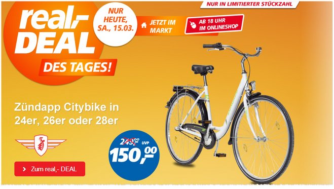 Real Deal des Tages Zündapp Citybike