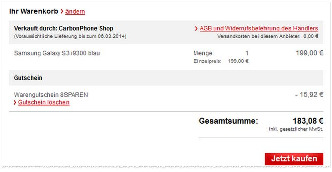 Samsung Galaxy S3 B-Ware