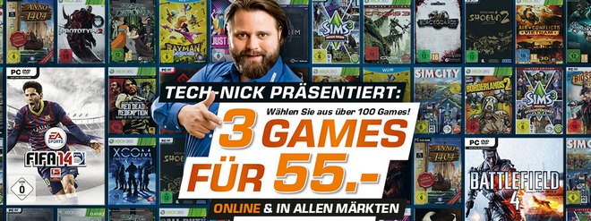 Saturn 3 Games für 55 Euro
